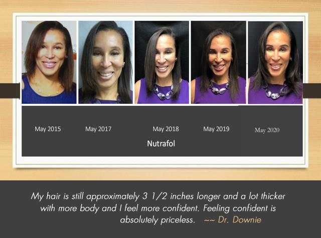 Dr. Downie personally uses Nutrafol